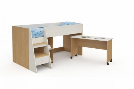 Д-915 (деревянная детская кровать-чердак)