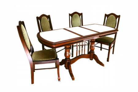 Керамогранит (деревянная столовая группа)