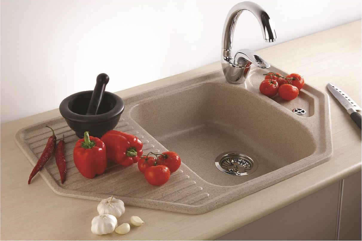 Керамическая мойка для кухни в интерьере фото