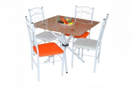Элит (квадратный кухонный стол, окрашенное стекло)