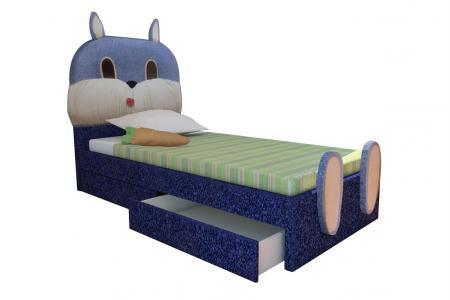 Зайка (детская мягкая кровать)